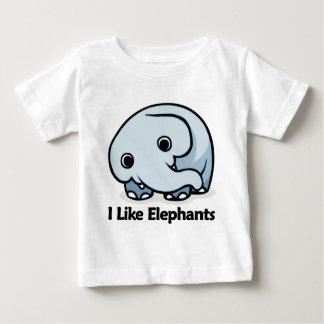 I Like Elephants Baby T-Shirt