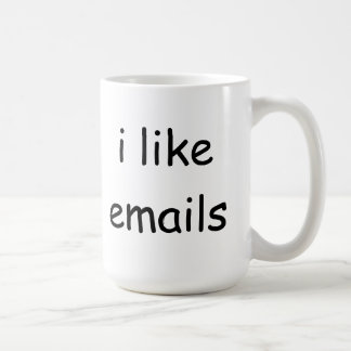 I like emails coffee mug
