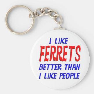 I Like Ferrets Better Than I Like People Keychain