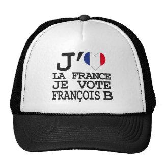 I like France I vote François B Cap