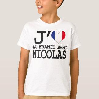 I like France with Nicolas T-Shirt