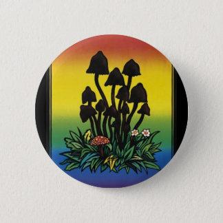 i like fungi.. 6 cm round badge