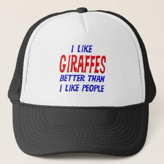 I Like Giraffes Better Than I Like People Hat