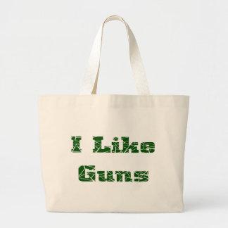 I Like Guns Jumbo Tote Bag