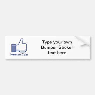 I LIKE HERMAN CAIN BUMPER STICKER
