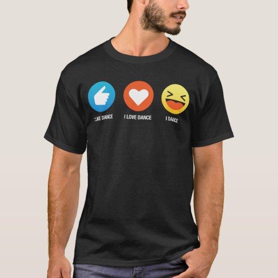 I Like I Love Dance Emoji Emoticon Graphic