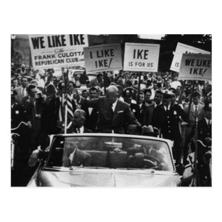 I Like Ike Dwight D. Eisenhower Campaign Postcard