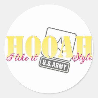 I like it HOOAH style Round Stickers
