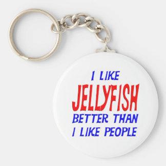 I Like Jellyfish Better Than I Like People Keychai Keychain
