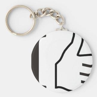 I  like basic round button key ring