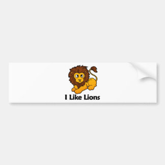 I Like Lions Bumper Stickers