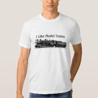 I like Model Trains T-shirt