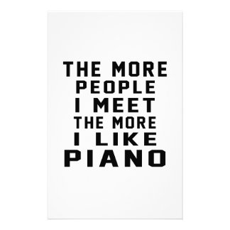 I Like More Piano Personalized Stationery