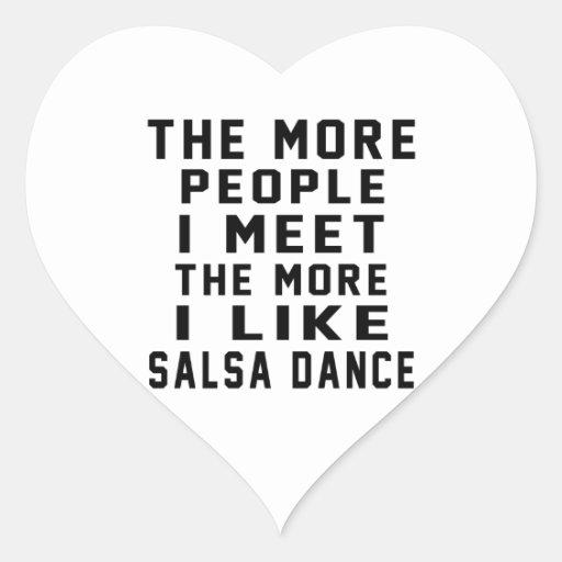 I like More Salsa Heart Sticker