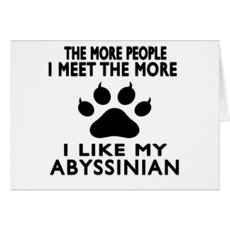 I like my Abyssinian. Card
