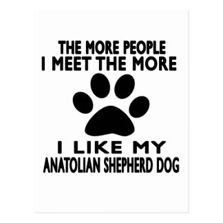 I like my Anatolian Shepherd dog. Postcard