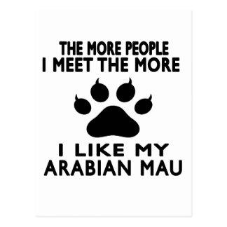 I like my Arabian Mau. Postcard