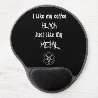 I Like My Coffee Black Just Like My Metal Gel Mouse Mat
