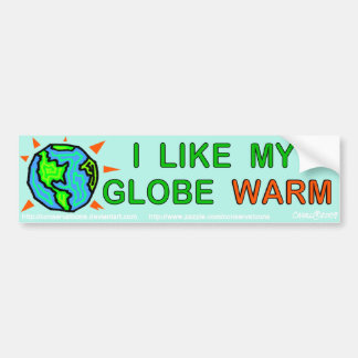 I like my globe warm bumper sticker