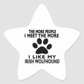 I like my Irish Wolfhound. Star Sticker