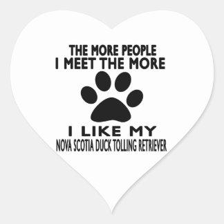 I like my Nova Scotia Duck Tolling Retriever. Heart Sticker