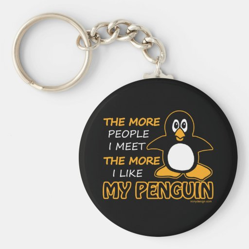 I Like My Penguin Key Chain