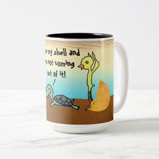 I Like My Shell Two-Tone Coffee Mug