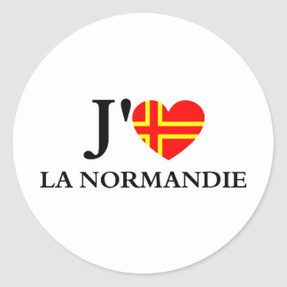 I like Normandy Round Sticker