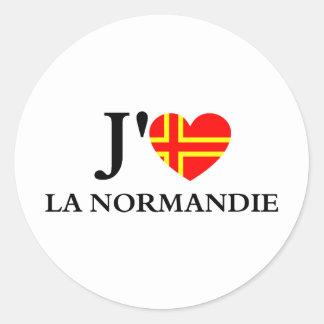 I like Normandy Round Sticker