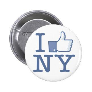 I Like NY 6 Cm Round Badge
