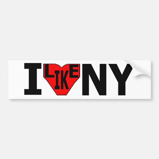 I Like NY Bumper Sticker