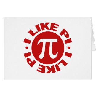 I Like Pi Greeting Card