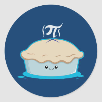 I Like Pi Classic Round Sticker