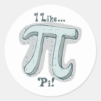 I Like Pi Round Sticker
