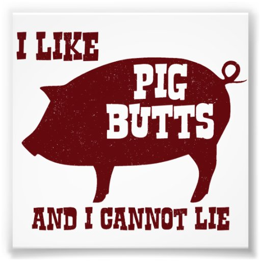 I like Pig Butts and I Cannot Lie BBQ Bacon Art Photo