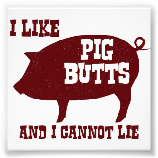I like Pig Butts and I Cannot Lie BBQ Bacon Photo Print