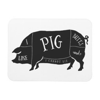 I Like Pig Butts and I Cannot Lie Rectangular Magnet