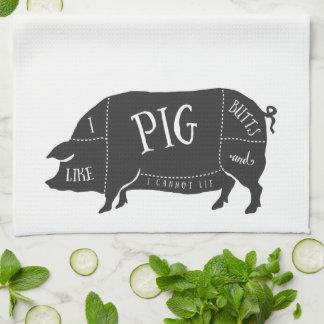 I Like Pig Butts and I Cannot Lie Tea Towel