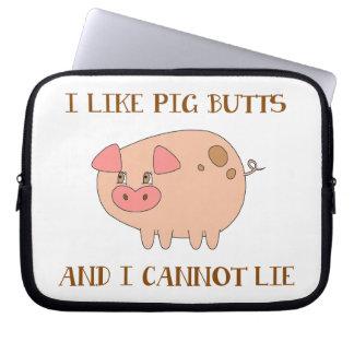 I Like Pig Butts Computer Sleeve