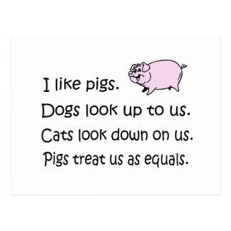 I Like Pigs Postcards