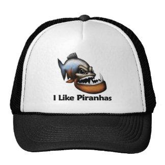 I Like Piranhas Mesh Hats