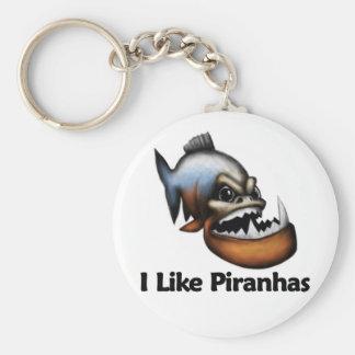 I Like Piranhas Key Ring