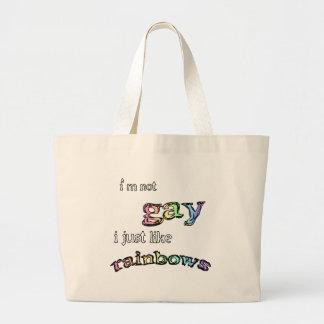 I like Rainbows Large Tote Bag