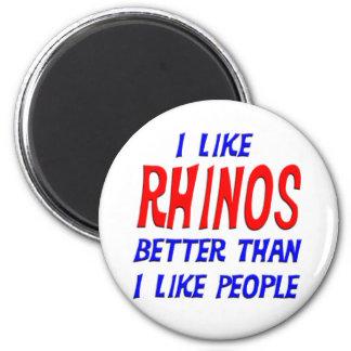 I Like Rhinos Better Than I Like People Magnet