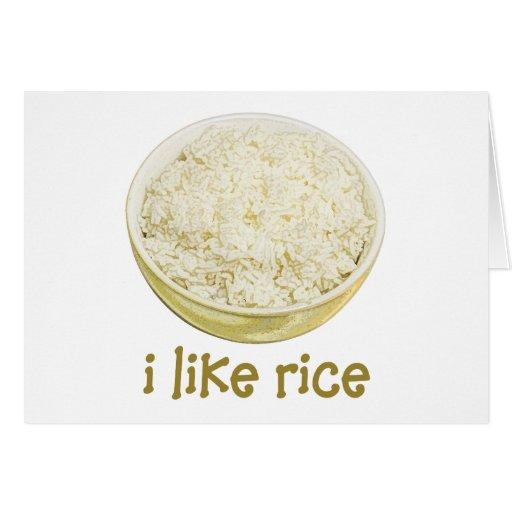 I Like Rice Greeting Cards