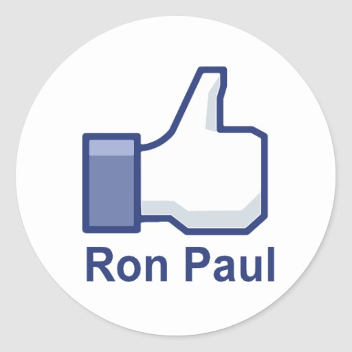 I LIKE RON PAUL ROUND STICKERS