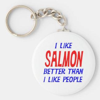 I Like Salmon Better Than I Like People Keychain