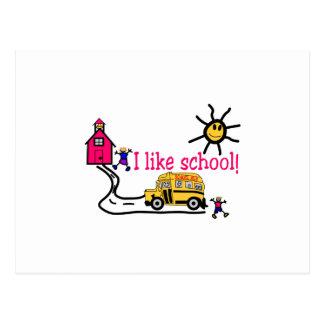 I Like School Postcard