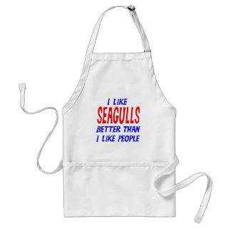 I Like Seagulls Better Than I Like People Apron