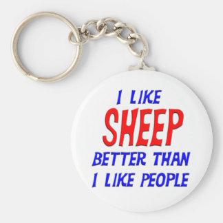 I Like Sheep Better Than I Like People Keychain